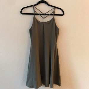 Express Olive Green Cage Front Dress